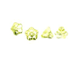 1 Czech Glass Beads Jonquil Flower Beads 10mm