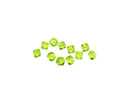 10 Czech Glass Beads Peridot Bicone Bead 6mm