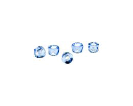 10 Czech Glass Beads Sapphire Roller Beads 4mm