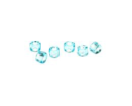 10 Czech Glass Beads Aqua Blue Roller Bead 4mm
