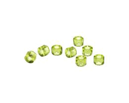 10 Czech Glass Beads Olivine Tube Roller Bead 4mm