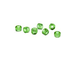 10 Czech Glass Beads Peridot Green Roller Bead 4mm