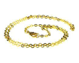 1 Necklace Chains Gold Plated Cable Chain 45cm
