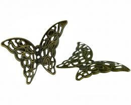 1 Butterfly Embellishments Bronze Filigree 41mm