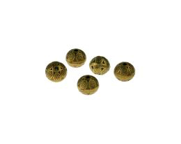 5 Metal Beads Bronze Decorative Cast Bead 8mm
