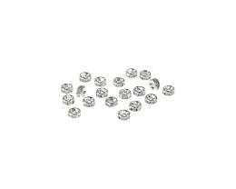 1 Metal Beads Silver Plated Crystal Rondelle 2mm