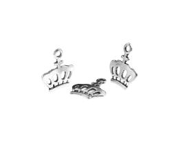 1 Metal Charms Silver Crown Charms 24mm
