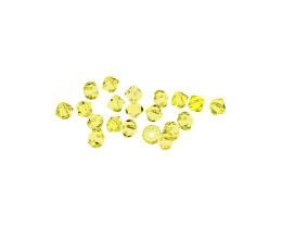 24 Preciosa Crystal Beads Jonquil Bicones 4mm