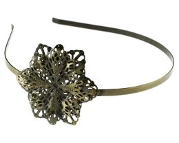1 Tiara Headbands Bronze Filigree Floral Alice Bands