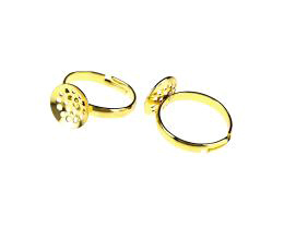 1 Adjustable Ring Blanks Gold Sieve Rings 20mm