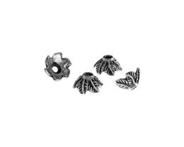 10 Bead Caps Antique Silver Leaf Cap 10.5mm