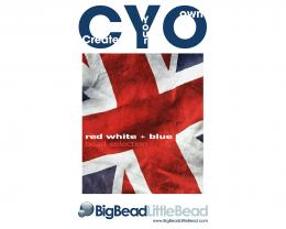 CYO Bead Selection Box Red White Blue Mixed Beads