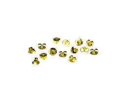 20 Earring Backs Gold Plated Ear Nuts 4mm
