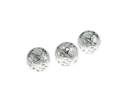 10 Metal Beads Silver Plated Hollow Filigree 12mm