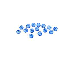 10 Preciosa Crystal Beads Sapphire Rounds 4mm