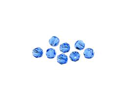 10 Preciosa Crystal Beads Sapphire Rounds 6mm