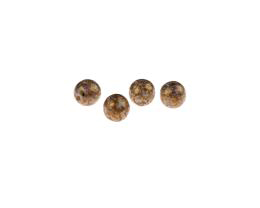 10 Czech Glass Beads Golden Travertine Rounds 8mm