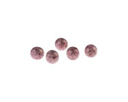 10 Czech Glass Beads Burgundy Travertine Round 8mm