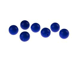 5 Czech Glass Beads Royal Blue Opaque Rounds 10mm