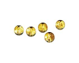 5 Czech Glass Beads Topaz Picasso Round Bead 10mm