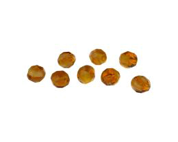 10 Czech Glass Beads Topaz Givre Rounds 8mm