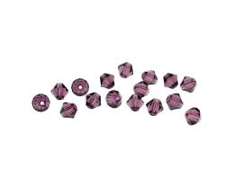 10 Czech Glass Beads Amethyst Machine Cut 6mm