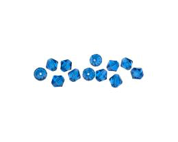 10 Czech Glass Beads Capri Machine Cut Bicone 6mm
