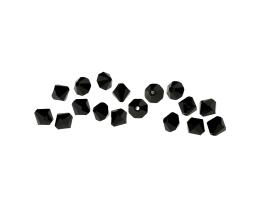 12 Czech Glass Beads Black Machine Cut Bicones 6mm