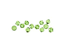 10 Czech Glass Beads Peridot Green Bicone Bead 6mm