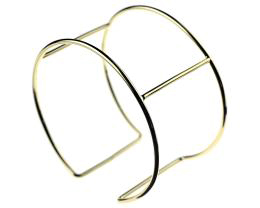 1 Cuff Bracelet Blanks Gold Plated Wire Frame 70mm