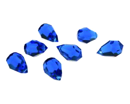 1 Vintage Crystal Beads Capri Blue Drop Bead 15mm