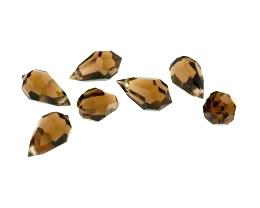 1 Vintage Crystal Beads Topaz Drop Bead 15mm