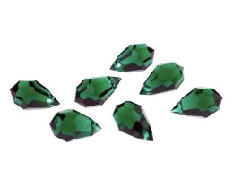 1 Vintage Crystal Beads Emerald Drop Bead 15mm