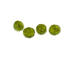 10 Czech Glass Beads Olivine Crackle Beads 10mm