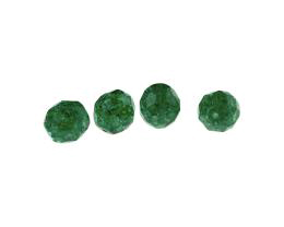 10 Czech Glass Beads Emerald Crackle Bead 10mm