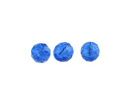 10 Czech Glass Beads Sapphire Crackle Bead 10mm