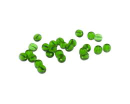 50 Vintage Glass Beads Emerald Green Rounds 5mm