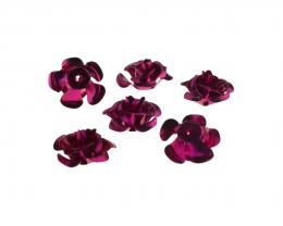 10 Embellishments  Aluminium Flowers Magenta 15mm