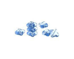 10 Czech Glass Beads Sapphire Cross Bead 10mm