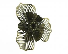 1 Flower Embellishments Bronze Finish Metal 48mm