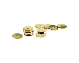 10 Metal Beads Gold Plated Disc Spacer Bead 10mm