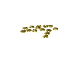 50 Bead Caps Brass Flower Bead Cap 5.5mm