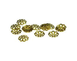 20 Bead Caps Brass Flower Bead Cap 10mm