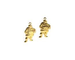 1  Brass Charms Father Christmas Charm 21mm