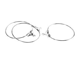 10 Wine Glass Charm Rings Silver Plated Hoops 26mm
