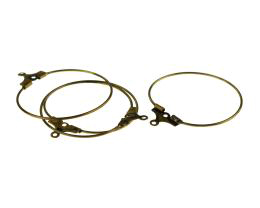 10 Wine Glass Charms Rings Bronze Hoops 26mm
