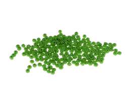 10g Czech Glass Seed Beads Green Opaque Size 10-0