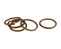 1 Vintage Jump Rings Copper Plated Open 20mm