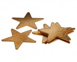 1 Vintage Metal Stampings Copper Stars 29mm