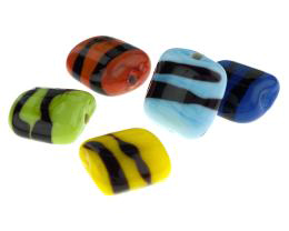 1 Set of Five Handmade Bright Light Lampwork Beads